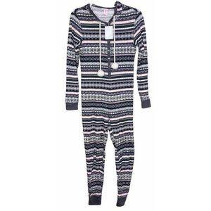 Victoria's Secret Onesie Thermal Hooded Pajamas